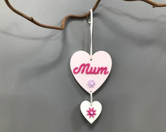 Pink Mother's Day hanging heart