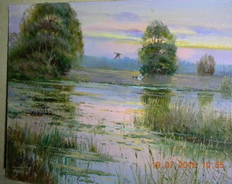 "Original oil painting ""Morning"", canvas"