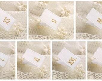 500 Pcs Sizes XS - XXXL Garment Labels