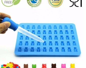 50 Cavity Gummy Bears Silicone Mold & Dropper