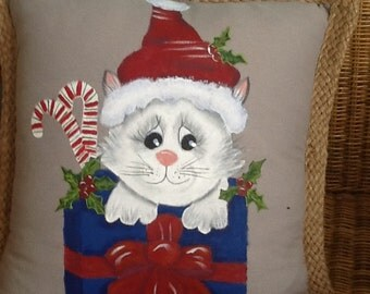Handpainted  Holiday Pillows and other creations.