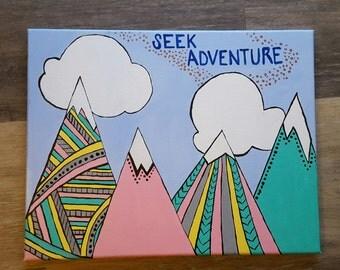 Seek Adventure Nursery Painting