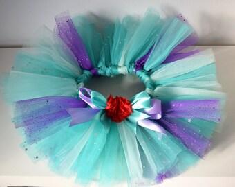 Little Mermaid Ariel Tutu, birthday tutu, kids dress up / costume, baby gift, custom girls tutu