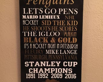 Pittsburgh Penguins Subway Sign