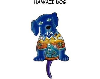 Hawaii dog clock