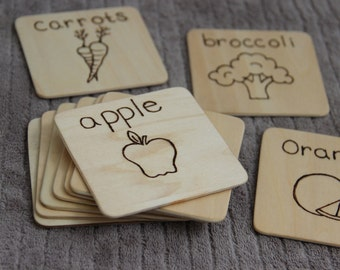 Wooden Flash Cards