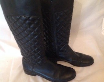 Quilted leather boot size 8 1/2