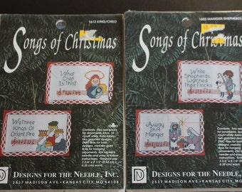 Songs of Christmas cross stitch ornaments kits