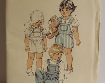 Vintage Kwik Sew #1437 Toddler's jumper pattern Sizes 1-4T