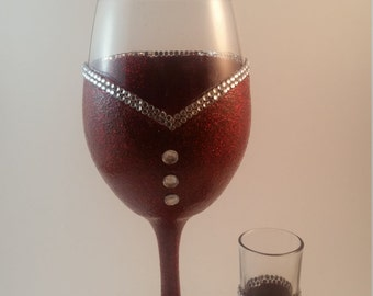 Bridesmaid wine glass