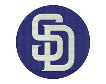 San Diego Embroidery Design - 5 SIZES