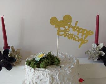 Gold cake topper Etsy