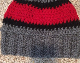 Messy bun beanie - finished product