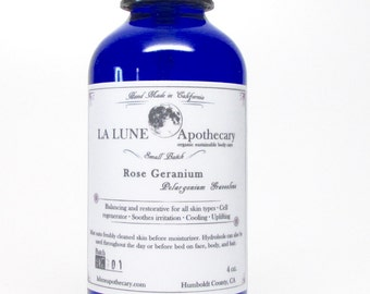 Organic Rose Geranium Hydrosol 4 oz