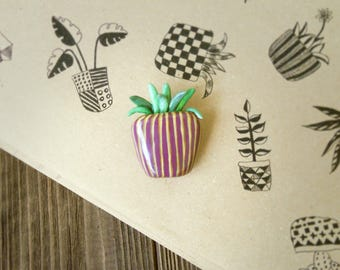 houseplant  brooch, jewerly plant,pot plants brooch, plant  brooch, plant brooch, brooch polymer clay, schedule brooch,