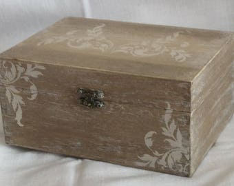 Rectangular box decorated