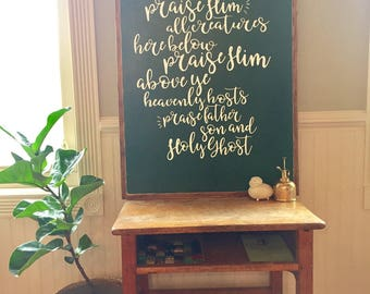 Doxology Wood Sign