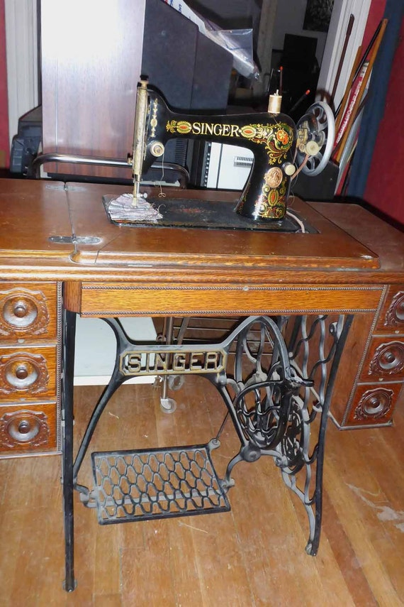 antique singer sewing machine manual