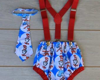 3 Piece Cake Smash Outfit - Dr Seuss Cat In The Hat