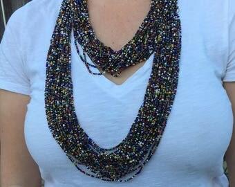 Multicolor beaded neckalce// Birthday Gift