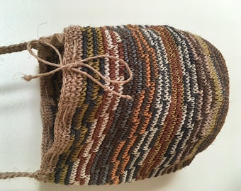 Plant Dyed Natural Fiber Hand Woven Indigenous Bag Organic