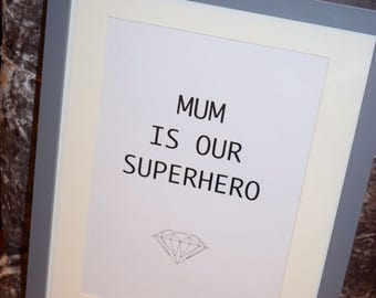 A4 Framed Mothers quote