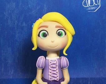 Edible Fondant Princess Rapunzel (Tangled) Cake Topper