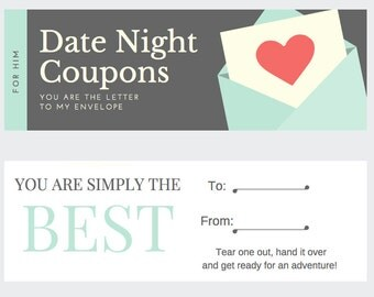 Date Night Coupons For HIM!