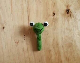 Sonajero bebe, sonajero rana, sonajero amigurumi, crochet rattle, rattle frog
