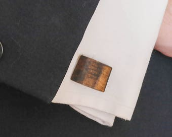 Aerofoil Shaped Dark Chestnut Wooden Cufflinks-Grand Opening Pricing