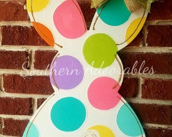 Happy Easter Bunny, Spring door hanger, Spring door decor, Bunny door hanger
