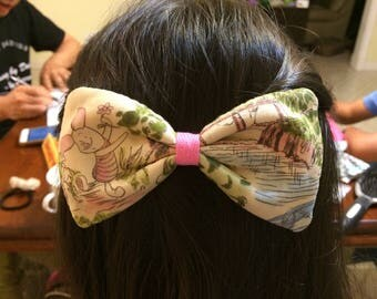 Winnie the Pooh Piglet Bow French Barrette