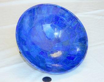 LARGE Lapis Lazuli Tile Bowl Afghanistan (20 cm diameter)