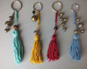 Keychain pompom / charm key ring