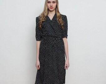 Vintage Dark Blue Dress/ Size 12