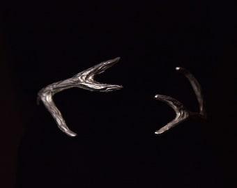 Deer Antler Cuff (Silver)