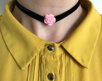 Handmade Velvet Rose Choker