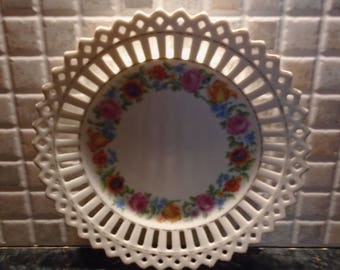 Lace Flower Floral Pattern Plate Bone China Germany