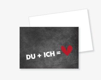 """Postcard """"you + I"""""""