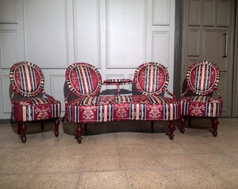 Antique luxury sofa and chair set