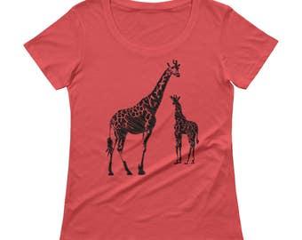Giraffe, Nature, Ladies tee, Heart, Nature, Girlfriend gift,Rock Tshirt, Best selling items, Womens t-shirt, tee,animal,earth,minimal
