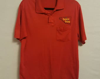 Vintage Red Wing Ding Tulsa '91 Polo Shirt Size Large