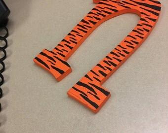 Tiger Print Nursery Letters