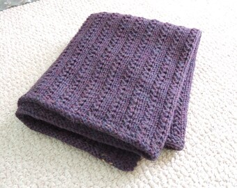 Hand Knit lap blanket, stroller blanket