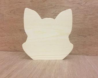Pine fox shape free standing