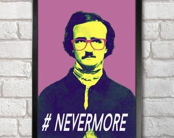 Edgar Allan Poe Poster Print A3+ 13 x 19 in - 33 x 48 cm  Buy 2 get 1 FREE