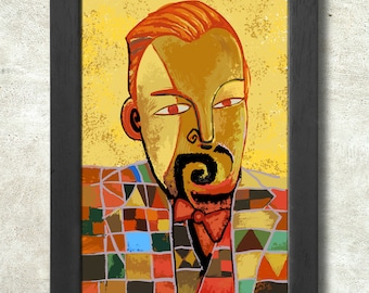 Paul Klee Portrait Poster Print A3+ 13 x 19 in - 33 x 48 cm  Buy 2 get 1 FREE