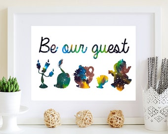 Be our guest, Beauty and the Beast, Disney print, Wall art print, Home decor, Wall decor