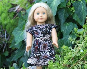 Silk Floral Ruffle Dress for 18 inch Dolls