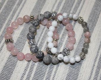 Soft Heart - Handmade Beaded Bracelet